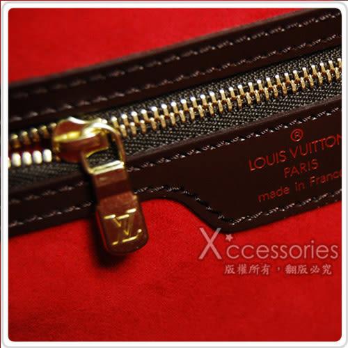 LV N51128 經典Damier棋盤格雙口袋肩背包