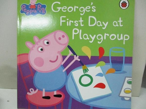 【書寶二手書T1/命理_D5P】Peppa Pig George s First Day at Playgroup_Neville Astley