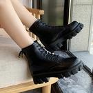 馬丁靴女2020秋冬季新款百搭英倫風增高厚底瘦瘦短靴子ins潮 伊蘿