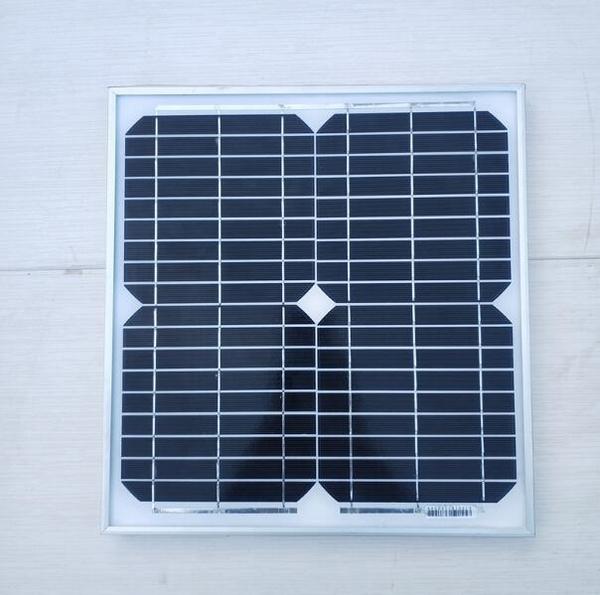 太陽能電池板20W單晶18伏充12V電瓶照明監控風扇家用光伏發電繫統 南風小鋪