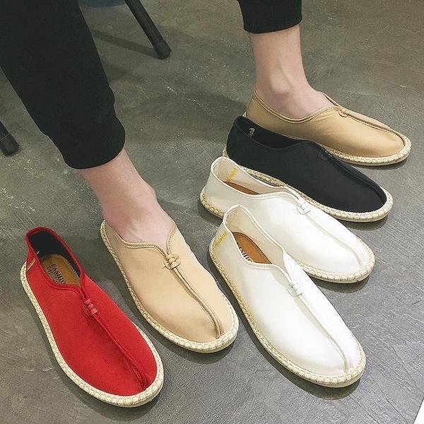帆布鞋 漁夫鞋2020夏季新款透氣布鞋中國風懶人鞋休閒鞋