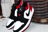 KUMO SHOES-現貨Air Jordan 1 LOW AJ1 AJ 喬丹 1代 低筒 黑頭 黑腳趾 黑白紅 553558-116