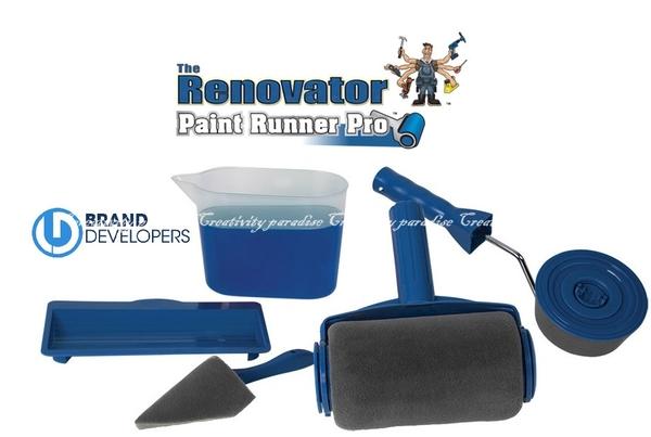 【無縫隙刷五件組】新款可填充式油漆滾筒刷+邊角滾筒+牆角刷+油漆杯+托盤 5件套 手柄油漆刷