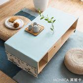 現代簡約純色茶幾布客廳桌布長方形棉麻布藝家用茶幾臺布防塵蓋布 莫妮卡小屋