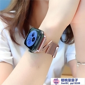 applewatch1/2/3/4適用蘋果iwatch錶帶金屬Z字水鉆【櫻桃菜菜子】