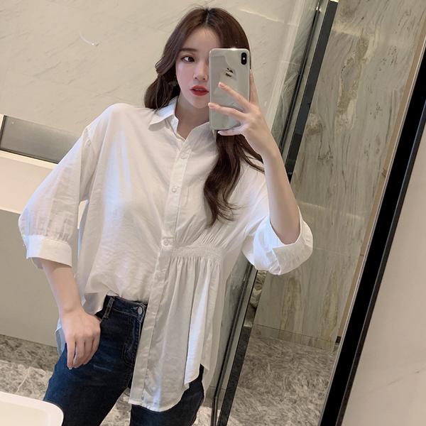 清倉288 韓系百搭休閒寬鬆顯瘦氣質白襯衫長袖上衣
