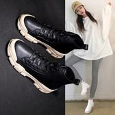 短靴 馬丁靴 小短靴 靴子 小秋英倫風韓版百搭平底網紅鞋子 YP1016-023