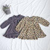 櫻桃復古荷葉領蝴蝶結長袖洋裝 櫻桃 復古 荷葉 荷葉領 蝴蝶結 長袖 洋裝 長袖洋裝