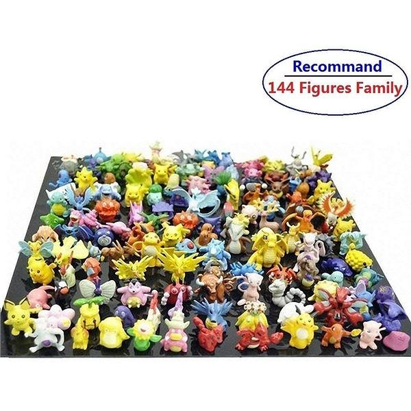 [9美國直購] Pakesmon 動作公仔 Toy Play Fun 144 pcs Heroes Action Figure Toy Set Mini Action Figures 2-3 cm