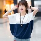 大碼短袖T恤女新款夏韓範寬鬆學生ulzzang衣服百搭上衣韓版蝙蝠衫