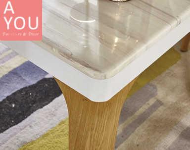 蒂娜4.3 尺石面鐵藝餐桌(大台北地區免運費)【阿玉的家2020】