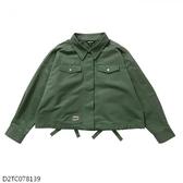 MIZUNO 女裝 外套 套裝 休閒 1906 平織 後背綁帶造型 軍綠【運動世界】D2TC078139