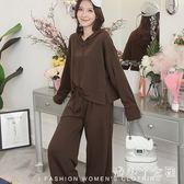 運動套裝女 少女秋新款韓版學生原宿風長袖衛衣兩件套 df4233【潘小丫女鞋】