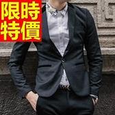 西裝外套 男西服(單外套)-修身正韓棉質隨意6色59t49[巴黎精品]