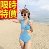 連身泳衣 泳裝-音樂祭沙灘衝浪必備比基尼流行簡單4色56j4【時尚巴黎】