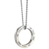 【奢華時尚】TIFFANY&Co. 1837 T&CO 圓戒純銀項鍊
