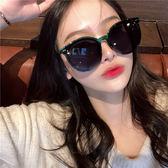 韓國超火圓臉復古偏光遮陽墨鏡女百搭瘦臉開車旅行拍照司機墨鏡男   名購居家