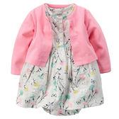 【美國Carter's】套裝2件組-粉嫩花卉包屁式洋裝+純棉小外套 121G455