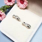耳環 925純銀鑲鑽-流線型情人節生日禮物女飾品73ia33【時尚巴黎】
