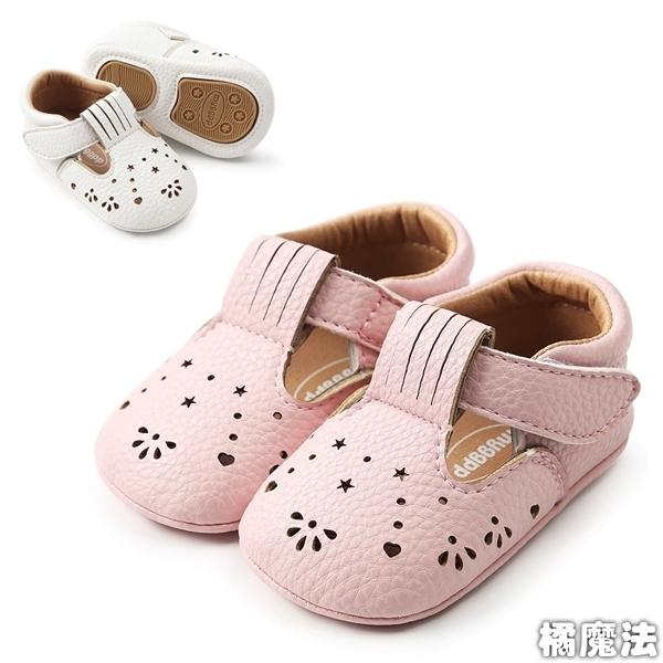 簍空軟膠片蝴蝶結嬰兒鞋 學步鞋 防滑點膠 寶寶嬰兒鞋 童鞋.室內鞋 0~24M 橘魔法 兒 寶寶鞋