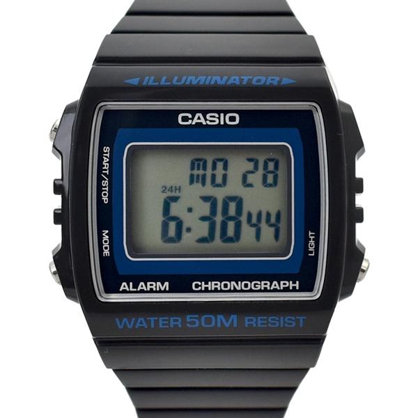 CASIO手錶 方框黑藍邊面復刻電子錶NECD26