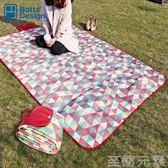 野餐墊旅行野餐墊防潮墊戶外野炊營沙灘帳篷地墊防水加厚草坪墊子野餐布 至簡元素