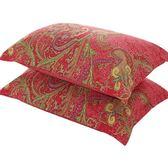 枕套枕頭套純棉一對全棉 48 74cm加大單人成人厚中床上用品 芥末原創