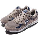 FILA 復古慢跑鞋 J311R 灰 藍 白 麂皮 運動鞋 休閒鞋 男鞋【PUMP306】 1J311R433