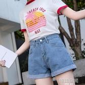 2019新款夏季復古高腰牛仔短褲女闊腿寬鬆休閒A字顯瘦韓版熱褲子