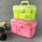 多層大號家用手提醫藥箱兒童藥品收納盒家庭塑料小醫療箱急救箱「Top3c」