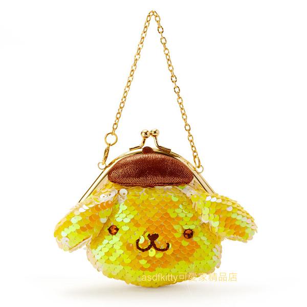 asdfkitty可愛家☆布丁狗造型亮片雙珠扣迷你小提包/零錢包-日本正版商品