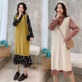 初心 韓版洋裝 【D3363】 過膝裙 長袖 長洋裝 長裙 魚尾裙