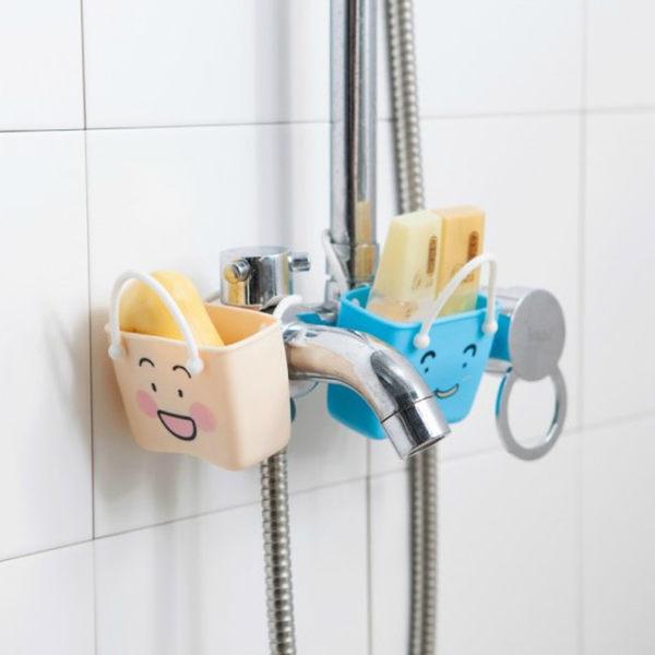 《J 精選》療愈系可愛卡通水槽瀝水收納掛袋/小物收納袋