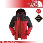 【The North Face 男 GTX羽絨兩件式外套 《紅/瀝灰》】CTS2-65J/保暖/戶外/防水