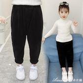 女童燈芯絨褲子新款秋冬裝條絨褲兒童加絨加厚寬鬆休閒褲 艾美時尚衣櫥