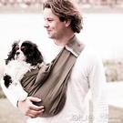 歐美時尚斜背寵物背巾寵物背包狗包貓包外出便攜狗包 深藏blue