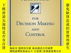 二手書博民逛書店Accounting罕見For Decision Making And ControlY307751 Jero