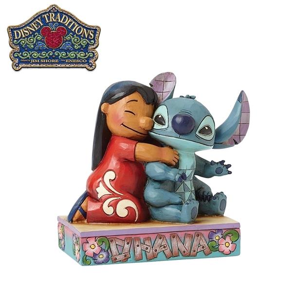 【正版授權】Enesco 莉蘿與史迪奇 塑像 公仔 精品雕塑 史迪奇 Stitch 迪士尼 Disney - 719490