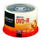 ◆破盤價!!免運費◆SONY 空白光碟片 DVD-R 16X 4.7GB 光碟燒錄片(50片布丁桶X6) 300PCS  限量10組!!