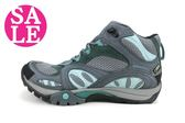 MERRELL女運動鞋AZURA MID GORE-TEX ML32344真皮登山健行鞋F8373#灰藍 零碼出清