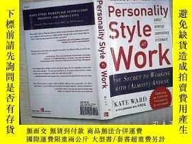 二手書博民逛書店PERSONALITY罕見STYLE AT WORKY18089