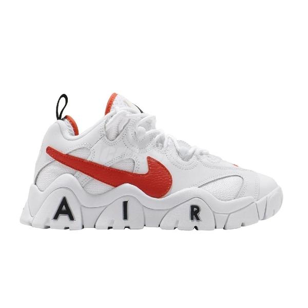 Nike 休閒鞋 Air Barrage Low EMB 白 橘 男鞋 Rucker Park 大勾勾 復刻 運動鞋 【ACS】 CJ5395-100