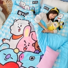 床包 / 單人【BT21全體總動員系列】含一件枕套 高密度磨毛 戀家小舖