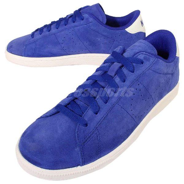 【六折特賣】 Nike 休閒鞋 Tennis Classic CS Suede 藍 白 麂皮 復古網球鞋 男鞋 【PUMP306】 829351-400