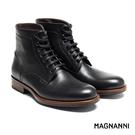 【MAGNANNI】簡約經典紳士皮靴 黑...