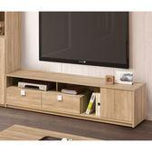 【森可家居】多莉絲6尺電視櫃 8ZX570-3 長櫃 木紋質感 無印風 北歐風