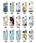 iPhone XS MAX/X/XR 手機殼 保護殼 腕帶支架防摔 全包邊外殼 手機套 保護套 浮雕軟殼 清新花朵