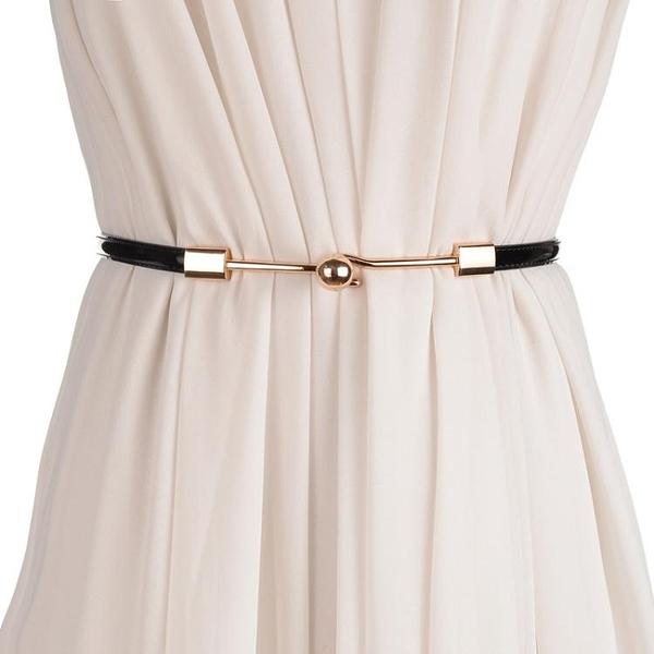 簡約百搭女士細腰帶時尚韓版裝飾皮帶女款韓國配洋裝子腰練 印巷家居