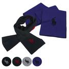 RALPH LAUREN POLO 小馬logo雙色素面100%羔羊毛圍巾(4色)780915