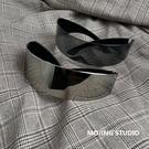 太陽眼鏡 新款科技感眼鏡網紅蹦迪嘻哈街頭方形墨鏡長方形一體男女潮太陽鏡 618搶購